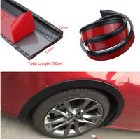 Universal 2x59'' Car Fender Flare Extension Wheel Eyebrow Protector Lip Moulding