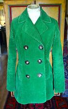Green cord peacoat LK Bennett double breasted jacket UK 8