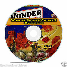 Wonder Stories, Vol 2, 42 Vintage Pulp Magazine, Golden Science Fiction DVD C62