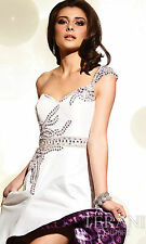 NWT $400 TERANI P652 Ivory Cruise Prom Formal Evening Size 0 Full Junior Long