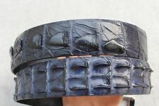 Dark Blue Genuine Alligator Crocodile Leather Skin Men's Belt - W 1.5 inch
