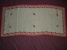 #495  Beautiful Vintage Hand Embroidered Table Runner  108cm/50cm(43''/20'')