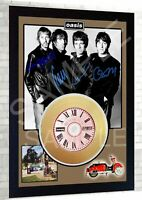 Oasis Be Here Now Liam Gallagher  Mini Gold Vinyl CD Record Signed Framed  Print