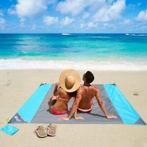 Coperta da Spiaggia Tappetino da Picnic Telo Anti Sabbia 210 * 200CM 4 Picchetti