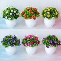 Artificial Fake Flowers Simulation Bonsai Pot Ball Tree Plants Home Office Decor