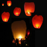 20/50Pcs Chinese White Paper Lanterns Sky Fly Wishing Lamp for Wedding Party