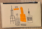 JEAN-MICHEL BASQUIAT LIMITED EDITION Empire New York LEATHER CASE Plate Signed