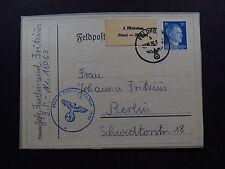 postcard Feldpost nr 18063 1 Päcken Front Heimat Mi 791 forgery Falsch False ???