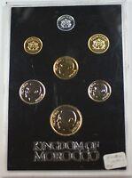 1974-1975 Kingdom of Morocco Mint Set 7 Gem Proof Coins