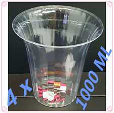 4 x ACRYLIC CANDY LOLLY FAVOUR BUFFET CLEAR TRANSPARENT SERVING BOWL PARTY 1 lt