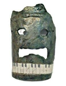 Hobbyist Piece Studio Art? Eclectic Face Décor Aztec Music Unique Handmade
