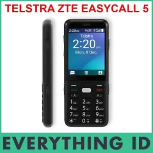 TELSTRA ZTE EASYCALL 5 BLACK T503 4G 4G 4GX BLUE TICK SENIORS BIG BUTTON SOS