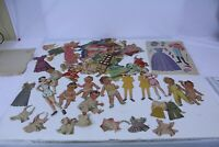 Vintage Attic Find Paper Doll Lot Several Figures and Many Clothes Lot #1