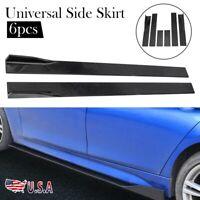 UNIVERSAL Car Side Skirt Extension Rocker Panel Splitters Lip Fit BMW Audi Honda