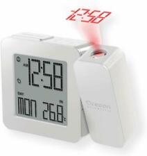 Projection Atomic Alarm Clock, Indoor Temperature Snooze Functions - White