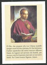 lamina de San Alfonso Maria de Ligorio andachtsbild santino holy card
