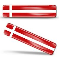 Autocollant 3D Gel Drapeau Danemark Résine National Danois Denmark Flag Sticker