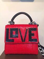 Les Petits Joueurs MiniI Alex Love Water Snake Red Leather Shoulder Bag,6952