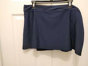Mazu Swim Blue Swim Skirt  Bottom Women's Plus Size 20W