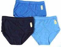 Mens Assorted BLUES Y Fronts Underpants Y-Fronts -100% Cotton- 12 Pairs- 7 Sizes