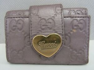Auth WL32 GUCCI Guccissisa 6 consecutive key case Lovely Heart from Japan