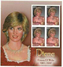 MODERN GEMS - Maldives - Princess Diana - Sheet Of 4 - MNH