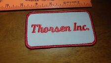 VINTAGE THORSEN INC ADVERTISEMENT SEW ON PATCH    PATCH BX4 #5