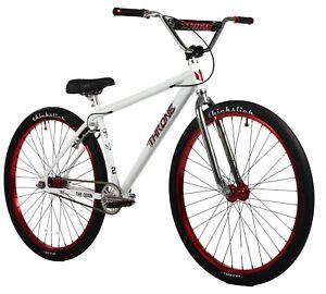 "Throne The Goon 29"" Fixed Gear Urban Street Bicycle Bike White Crimson NEW"