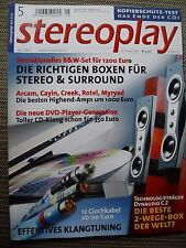 Stereoplay 5/02 Dynaudio C 2, test Cinchkabel, Thiel CS 1.6, Arcam a 65 plus a 85,