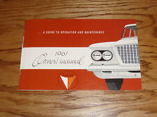 1961 Plymouth Valiant Owners Operators Manual 61