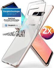 2x Samsung Galaxy S10 PLUS Hülle Schutzhülle Transparent Case Clear Cover