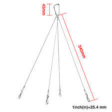 2*10kg/22lbs Grow Light Rope Hangers Hook Stainless Steel For Plants Lamp Lights
