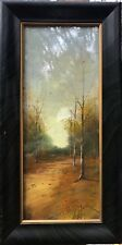 Harry Linder, California Artist(1886-1931) pastel of A Wooded Path.