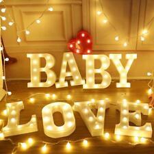 LED Buchstaben Schreiben Leuchte Stimmungsleuchte Dekoration Lampe Leuchtschild