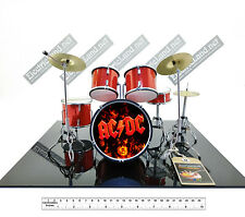 Mini Drum set AC/DC black in Angus scale 1:4 miniature gadget collectible acdc