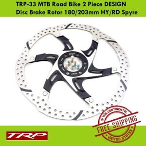 TRP TRP-33 MTB Road Bike 2 Piece DESIGN Disc Brake Rotor 180/203mm HY/RD Spyre