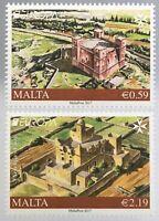 Malta 2017 Michel Nr. 1957-57 Europa Burgen und Schlösser