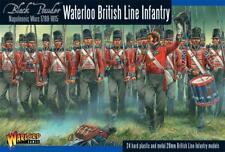 Infantería de línea Waterloo británica-Polvo Negro-Warlord Games -