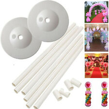 2 Sets 1.5M Balloon Column Base Stand Upright Pillar Kit Wedding Birthday Party