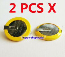 2 PCS x New Tabbed 3V CR2430 Battery Button Coin Cell With 2 Tabs/Pins