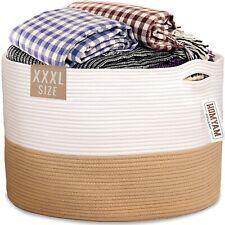 "Extra Large Storage Basket – 22"" X 14"" XXXL Toy Basket – Decorative Large Blanke"
