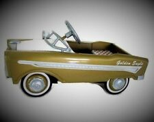 A Pedal Car 1950s Gold Chrysler Rare Vintage Show Hot Rod Sport Midget Model