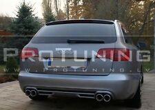 Audi A6 4F C6 05-08 rear bumper diffuser ABT style twin exhaust addon AVANT