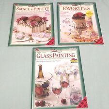 Lot 3 Donna Dewberry One Stroke Tole Decorative Painting Books Glass,Favorites+