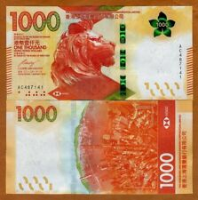 Hong Kong, $1000, 2018, HSBC, P-New, UNC > Redesigned, New family of notes