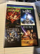 Dune / Battlestar Galactica / Flash Gordon / The Last Starfighter 4 Film DVD Set