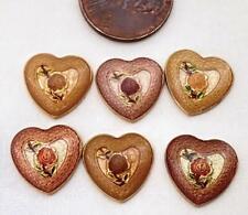 Vintage 13mm Metal Floral Heart Cabs Findings 6