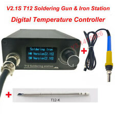 V2.1S T12 Digital Temperature Controller Soldering Equipment Gun & Iron Station