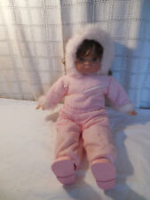 "Famosa 18"" girl doll w/ pink snow suit Spain"