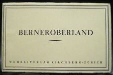 Swiss Alps Postcards BERNEROBERLAND Wehrli Verlag Zurich Accordion Fold 12 Views